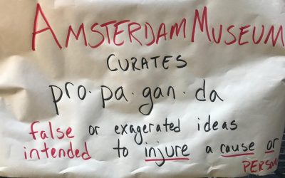 Protest at Amsterdam Museum